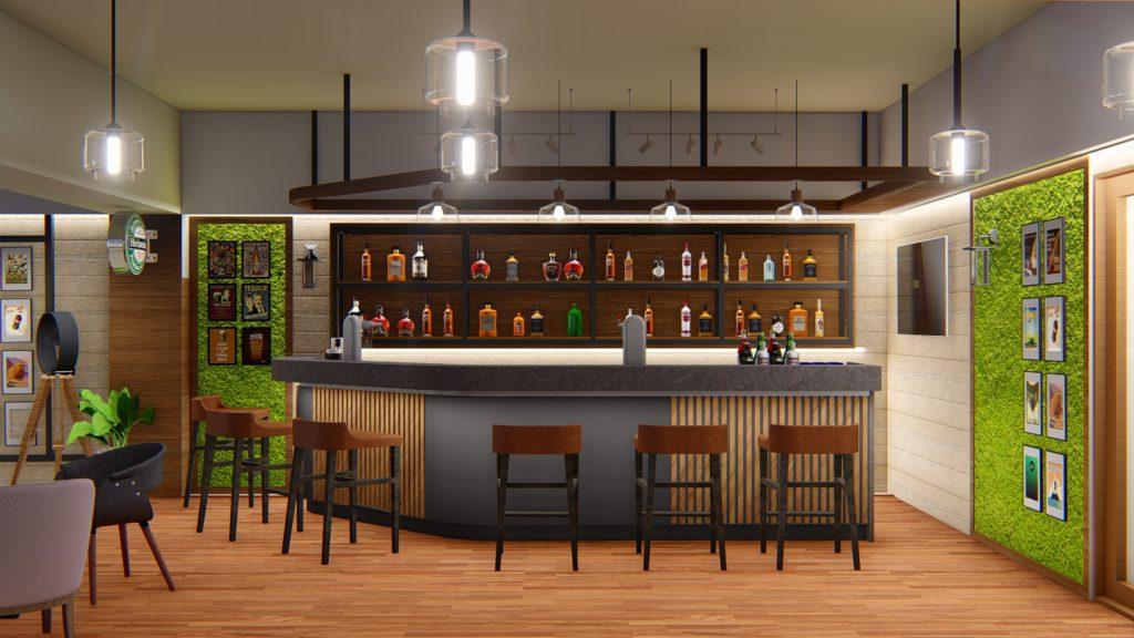 Sports bar interior design